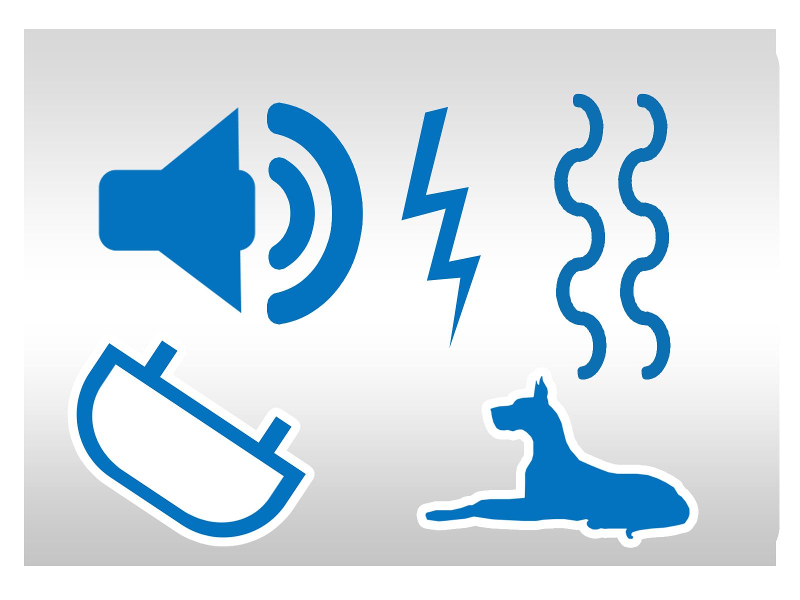 Bodźce dźwiękowe, prąd, wibracja